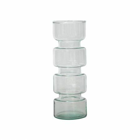 Tall Tiered Recycled Glass Vase