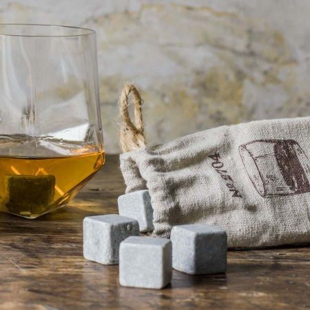 Whisky Stones With Canvas Bag