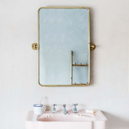 Otto Antique Gold Rectangular Tilting Mirror