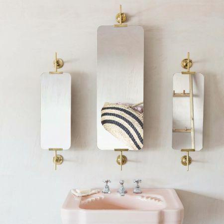 Orwell Antique Gold Triptych Swivel Rectangular Mirror