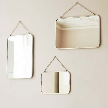 Silver Large Portrait Carriage Mirror