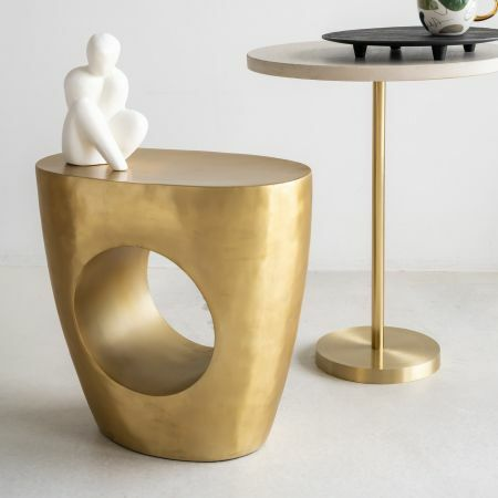 Gold Cut Out Side Table