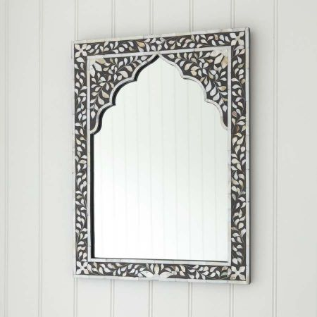 Mandir Grey Mother of Pearl Mirror