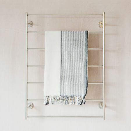 Trent Large Silver Mounted Towel Rack