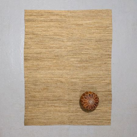 Yaro Extra Large Natural Woven Hemp Rug