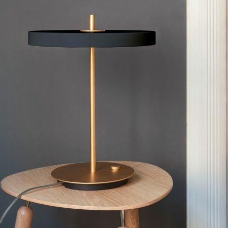 Asteria Grey Table Lamp