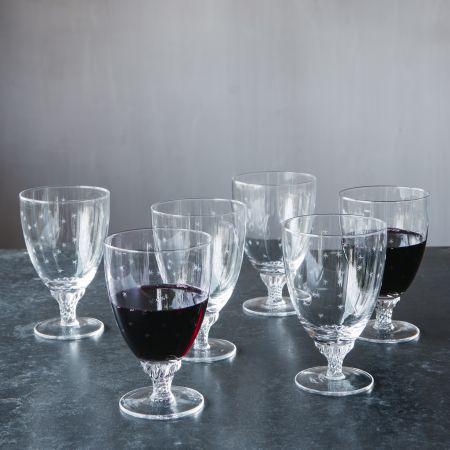 Set of Six Stars Bistro Glasses