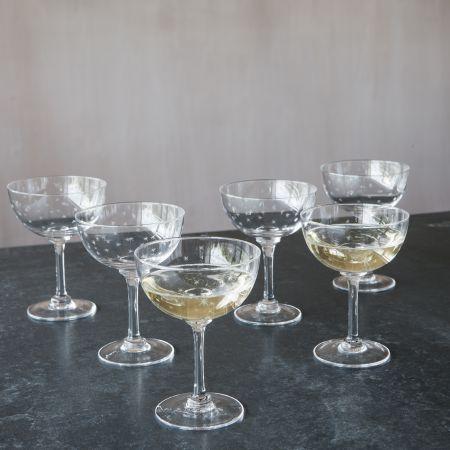 Set of Six Stars Champagne Coupes