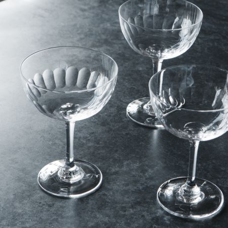 Set of Six Lens Champagne Coupes