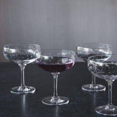 Set of Four Stars Cocktail Glasses