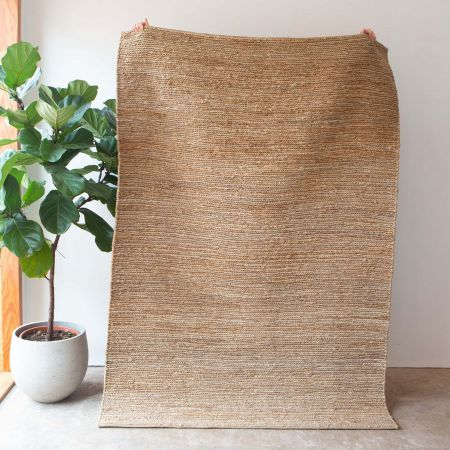 Yaro Medium Natural Woven Hemp Rug