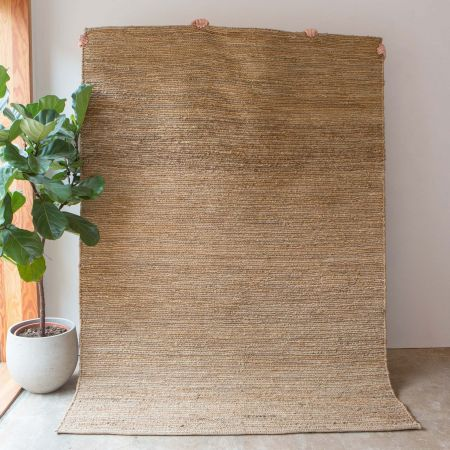 Yaro Large Natural Woven Hemp Rug