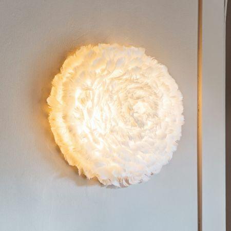 Aurora White Feather Wall Light
