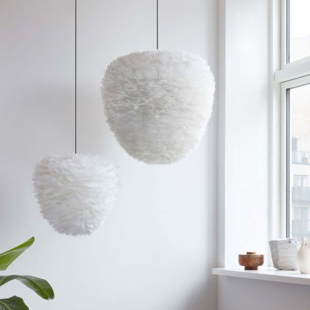 Eliana White Feather Pendant Shades