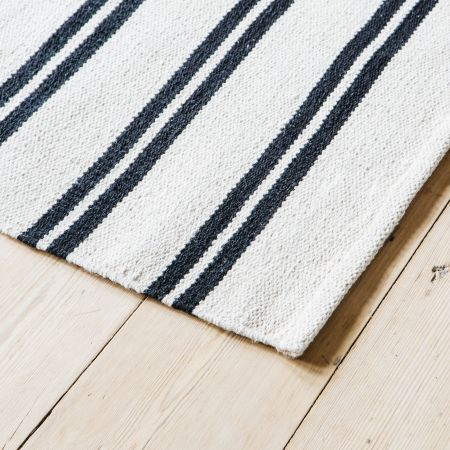 Bertie Black and White Rugs