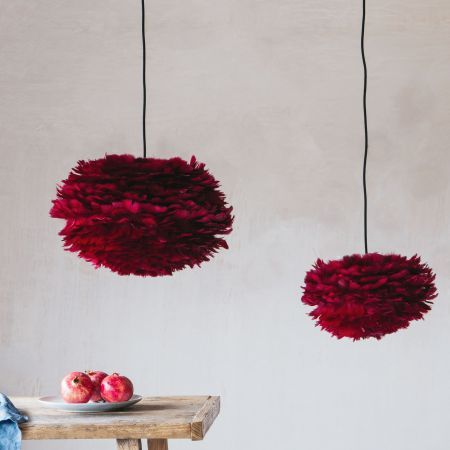 Aurora Red Feather Pendant Shades