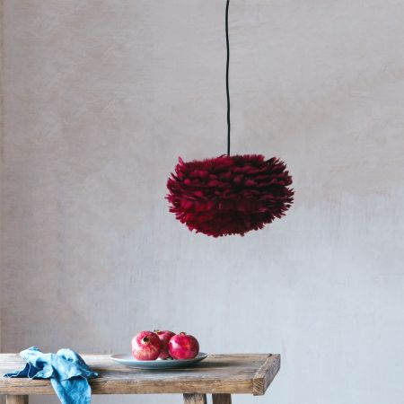 Aurora Small Red Feather Pendant Shade