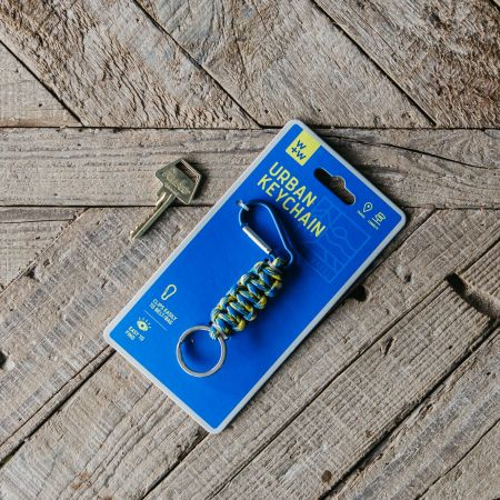 Yellow and Blue Urban Keychain