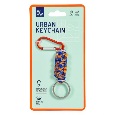 Blue and Orange Urban Keychain