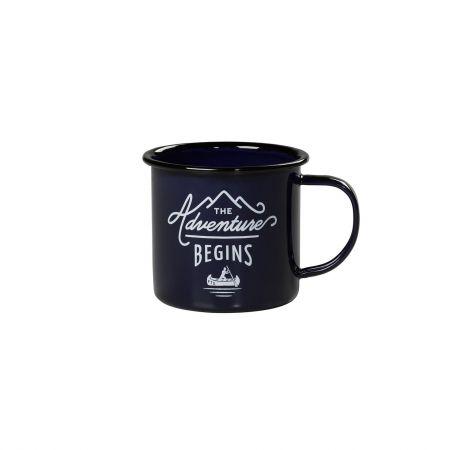Adventures Navy Enamel Mug