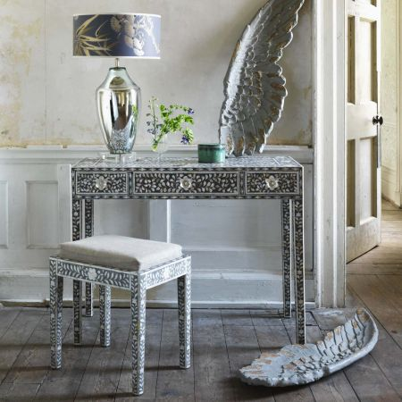 Maxi Grey Mother of Pearl Console Table
