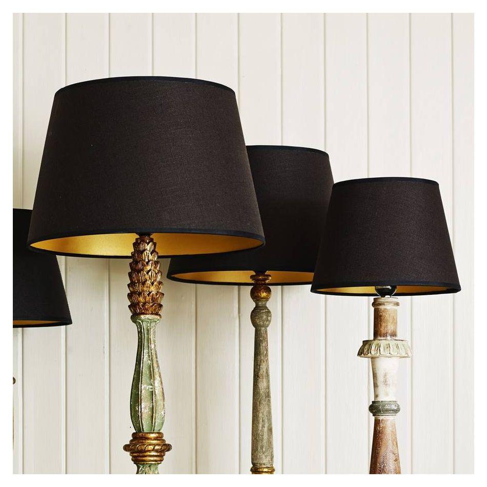 Black And Gold Retro Lamp Shades, Modern Lamp Shades Uk