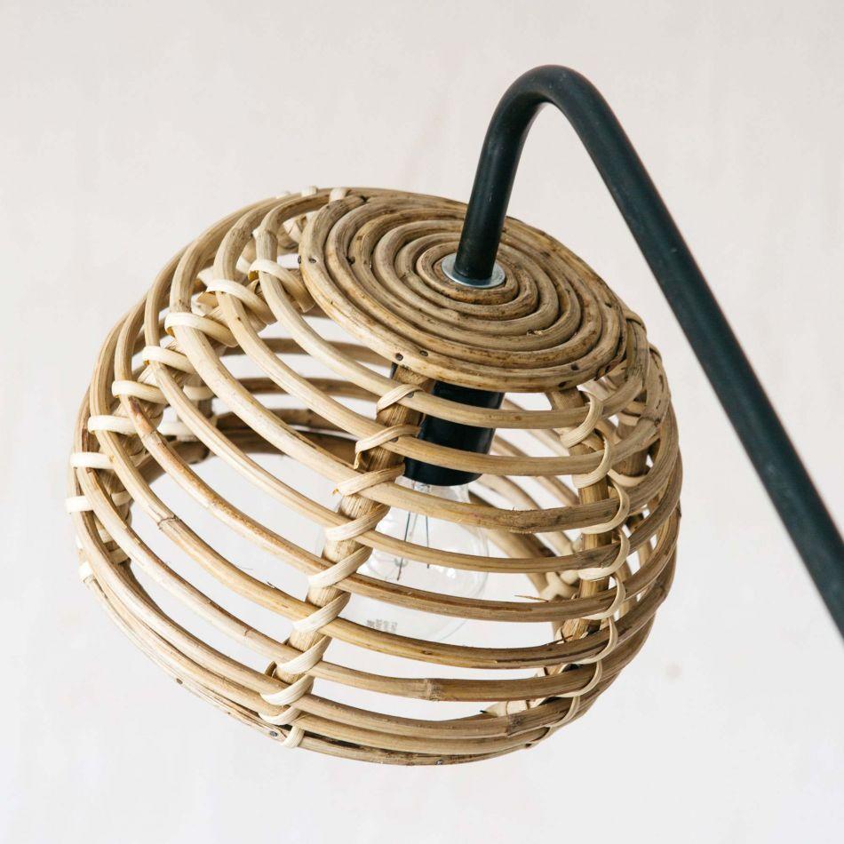Wicker Full Circle Floor Lamp