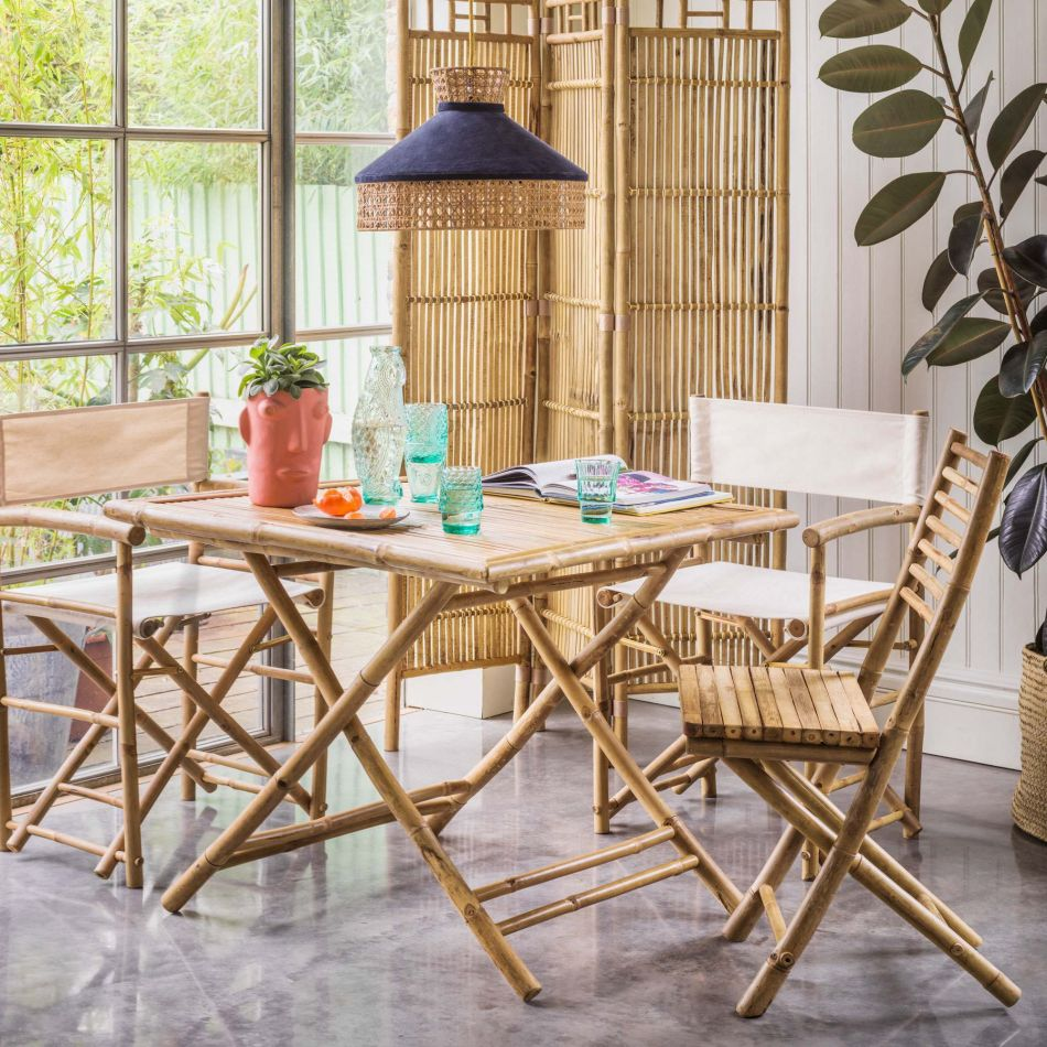 Thea Bamboo Dining Table Graham Green