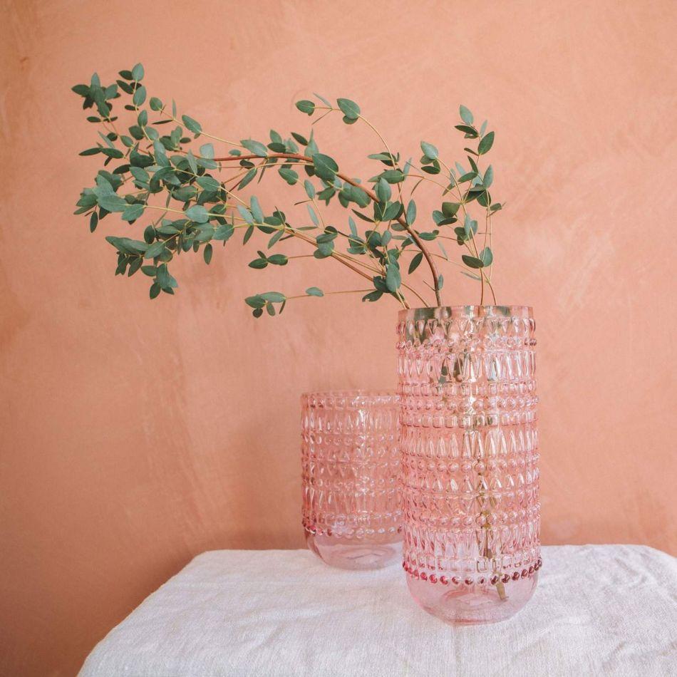 Eva Pink Glass Vases Graham Green