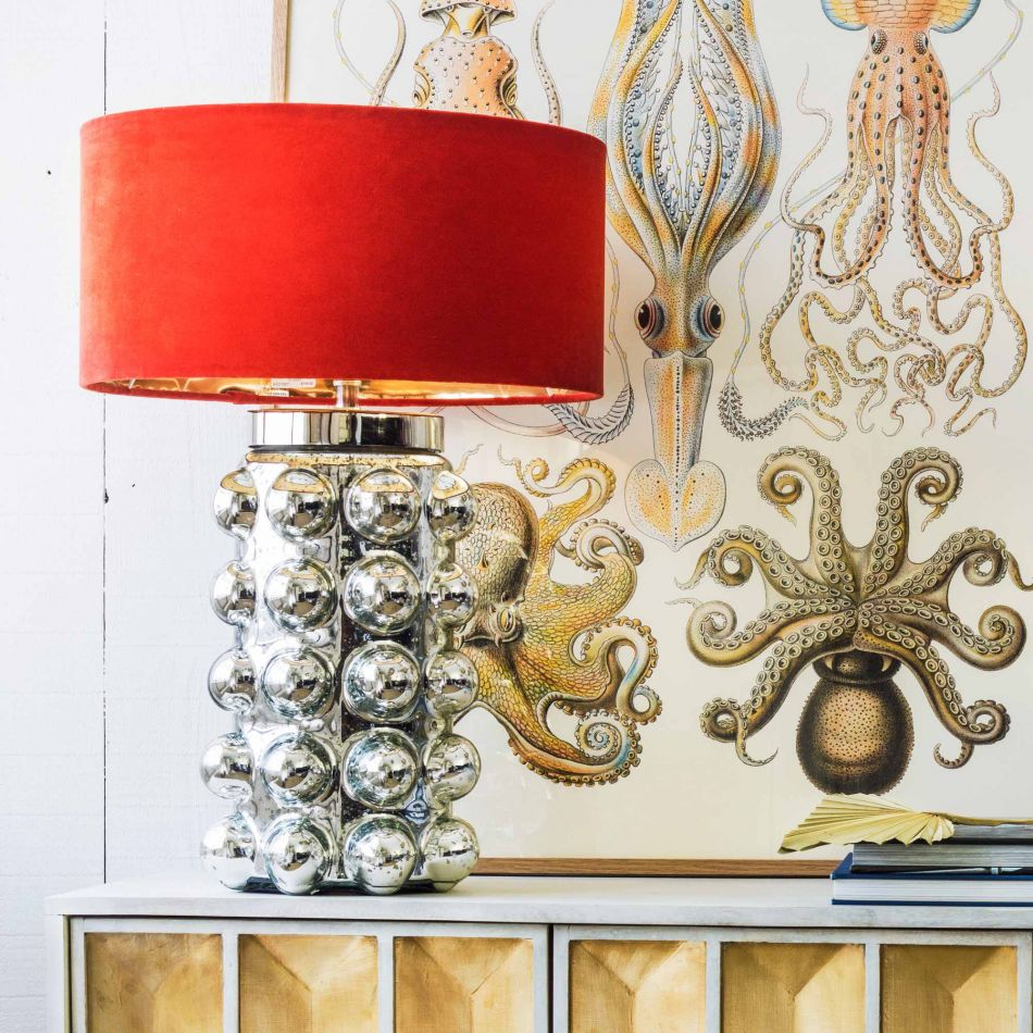 Deep Navy Bobble Table Lamp | Graham