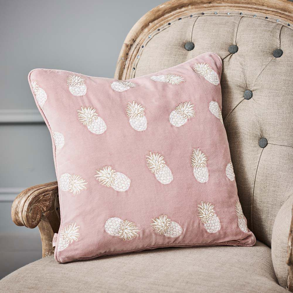 Ananas Lilac Velvet Cushion