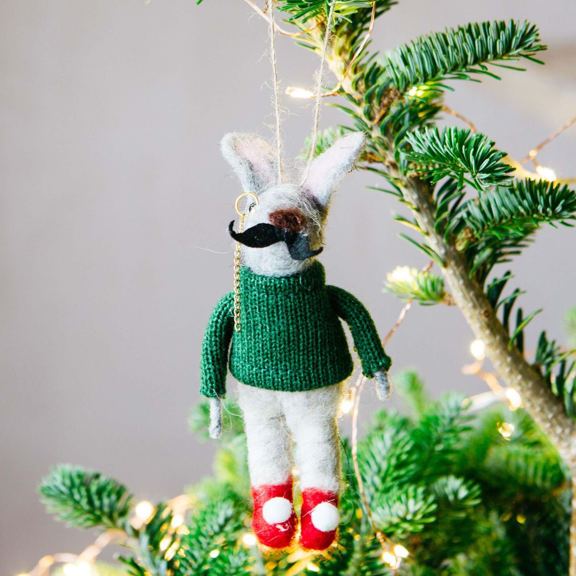 Hubert Rabbit in Jumper Decoration