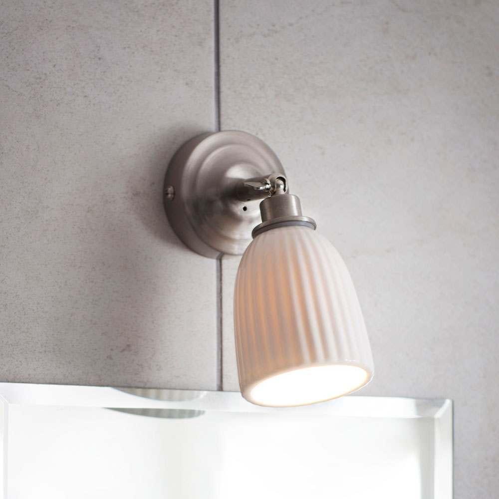 Alma Satin Nickel Bathroom Spot Light