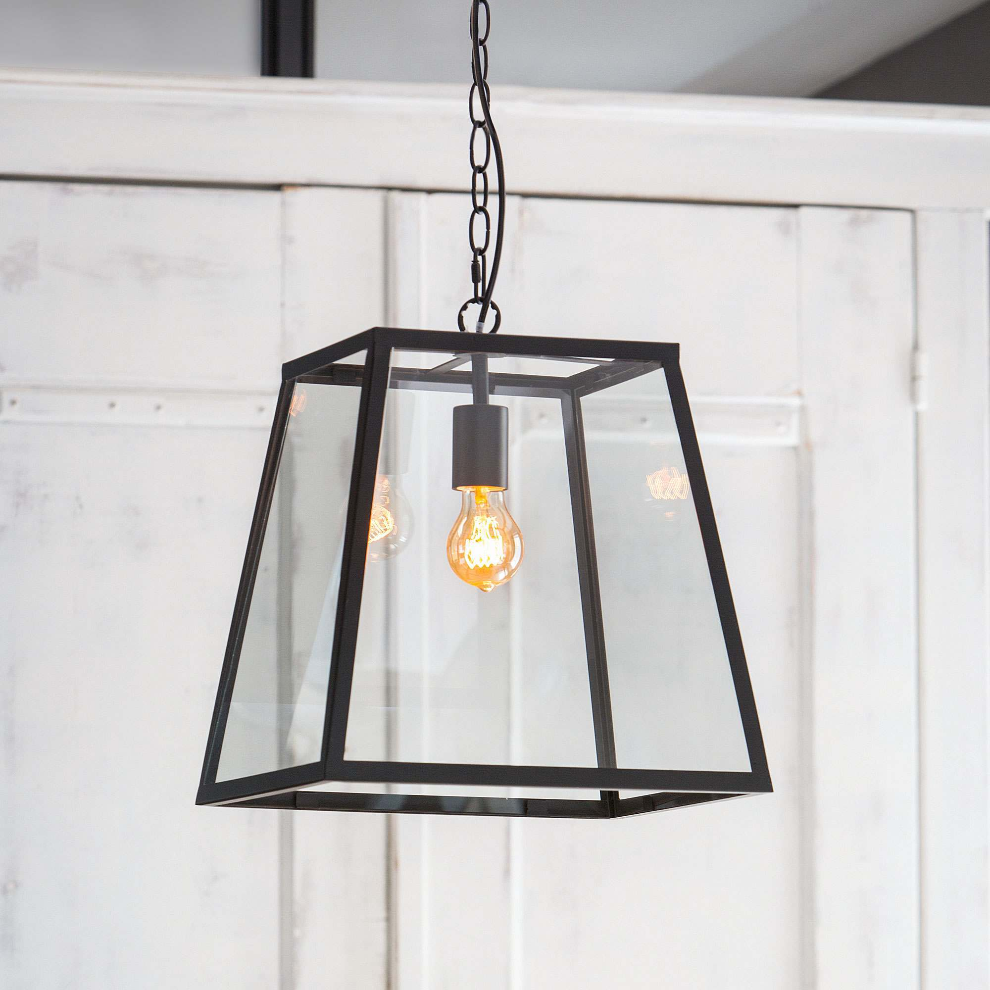 Inko Glass Lantern Pendant Light Graham Green
