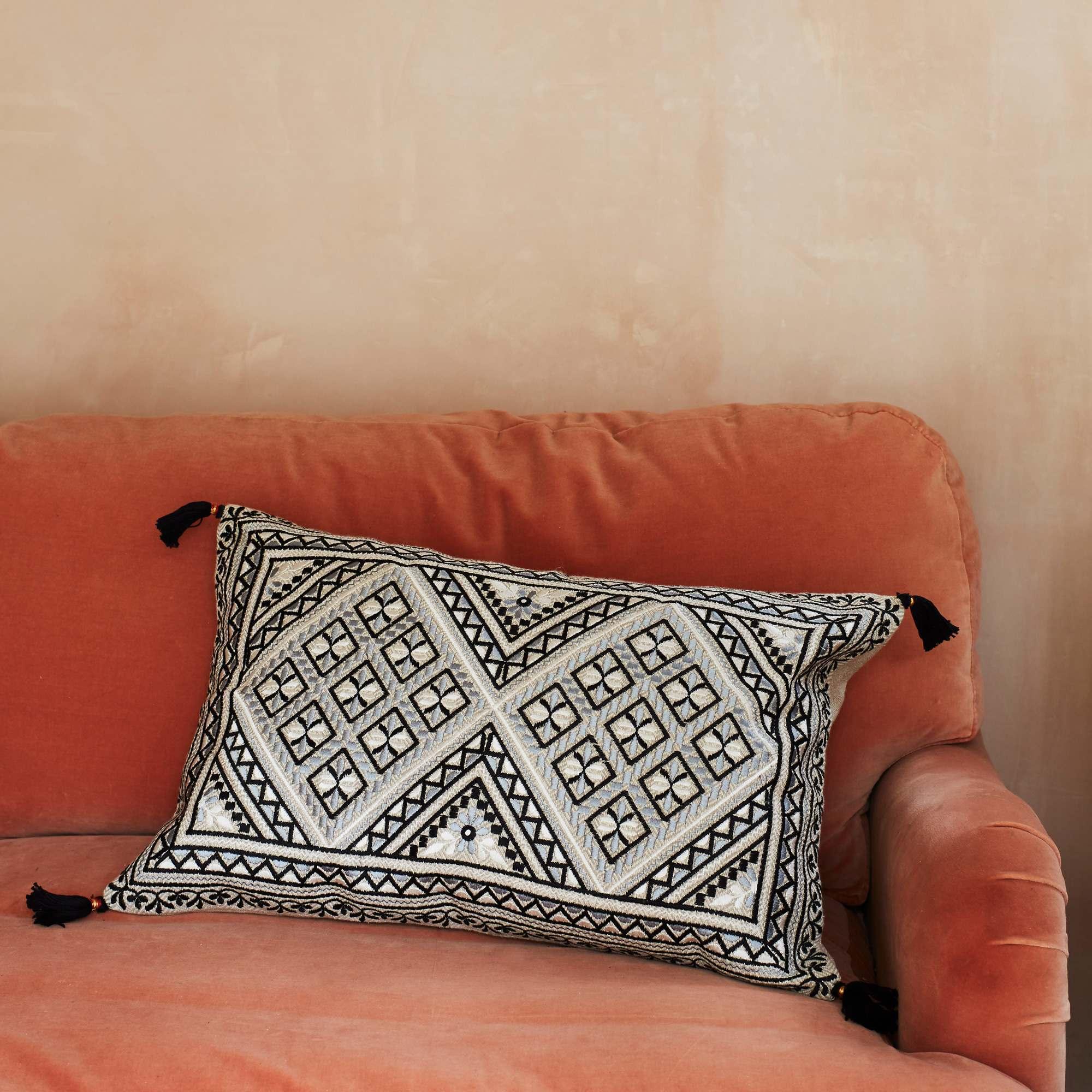 Anya Monochrome Jacquard Cushion