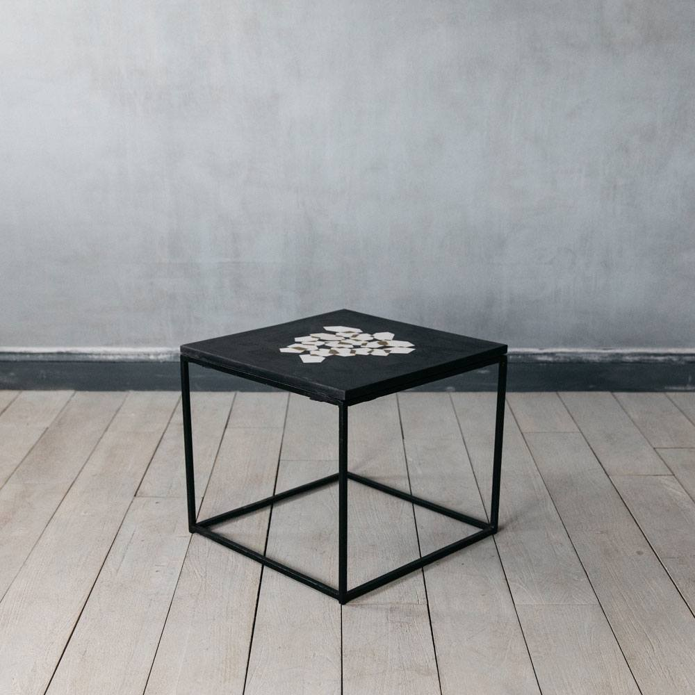 Abe Black Marble Side Table