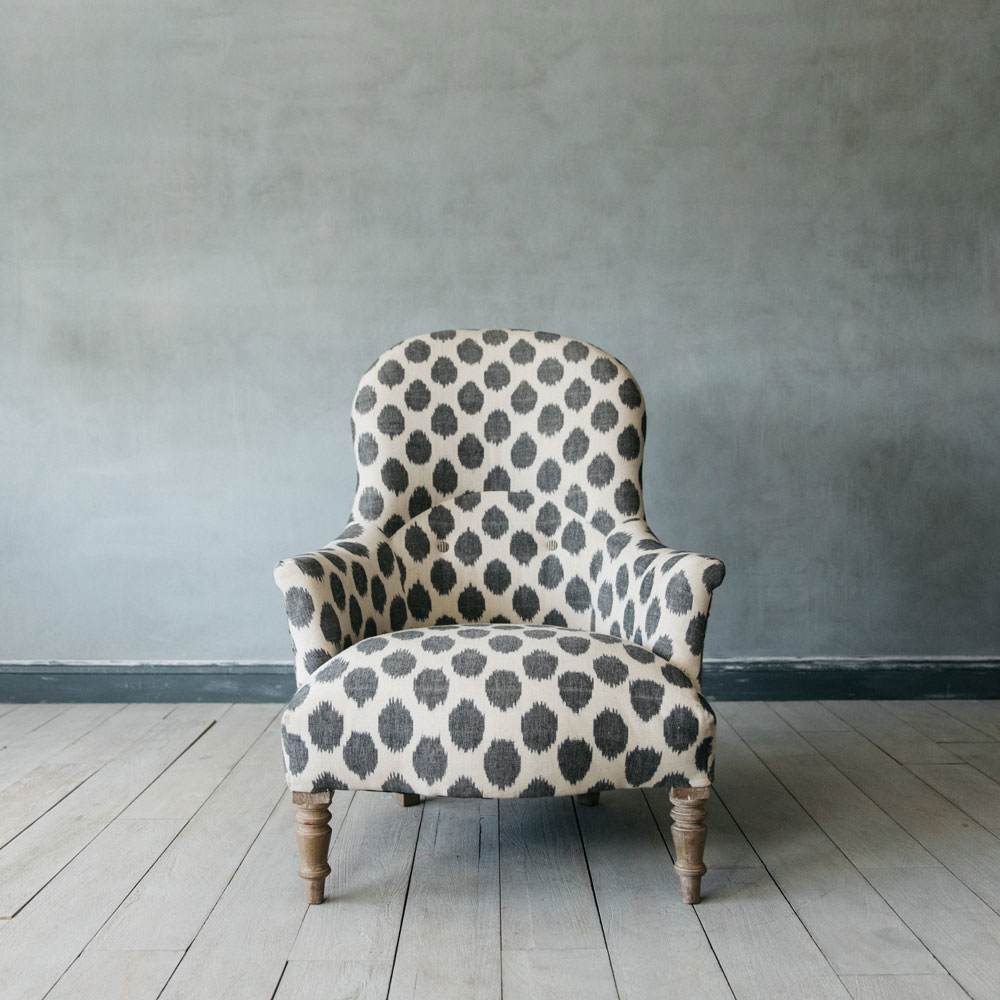 Alfred Black And White Ikat Print Armchair