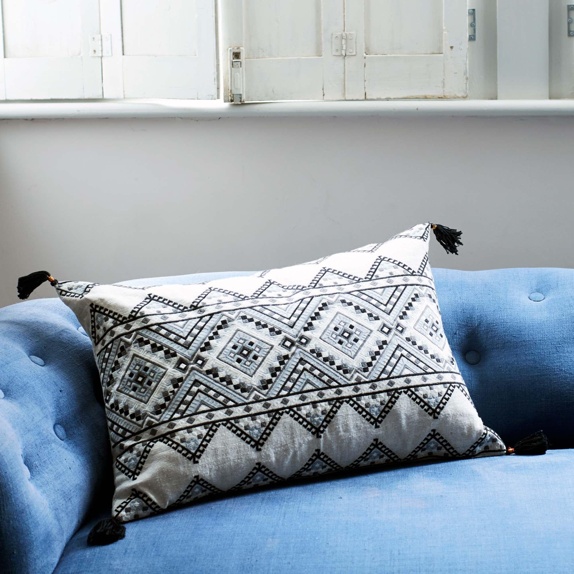 Anya Monochrome Mayan Cushion