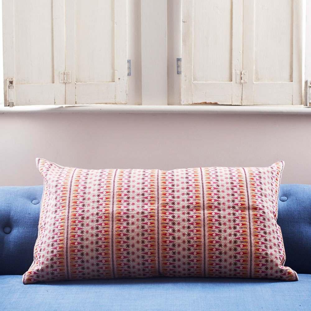 Anya Pink And Yellow Rectangular Cushion