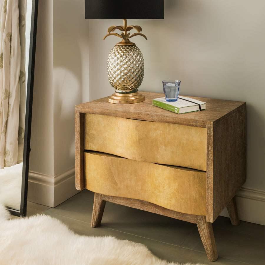 Midas Brass Bedside Table