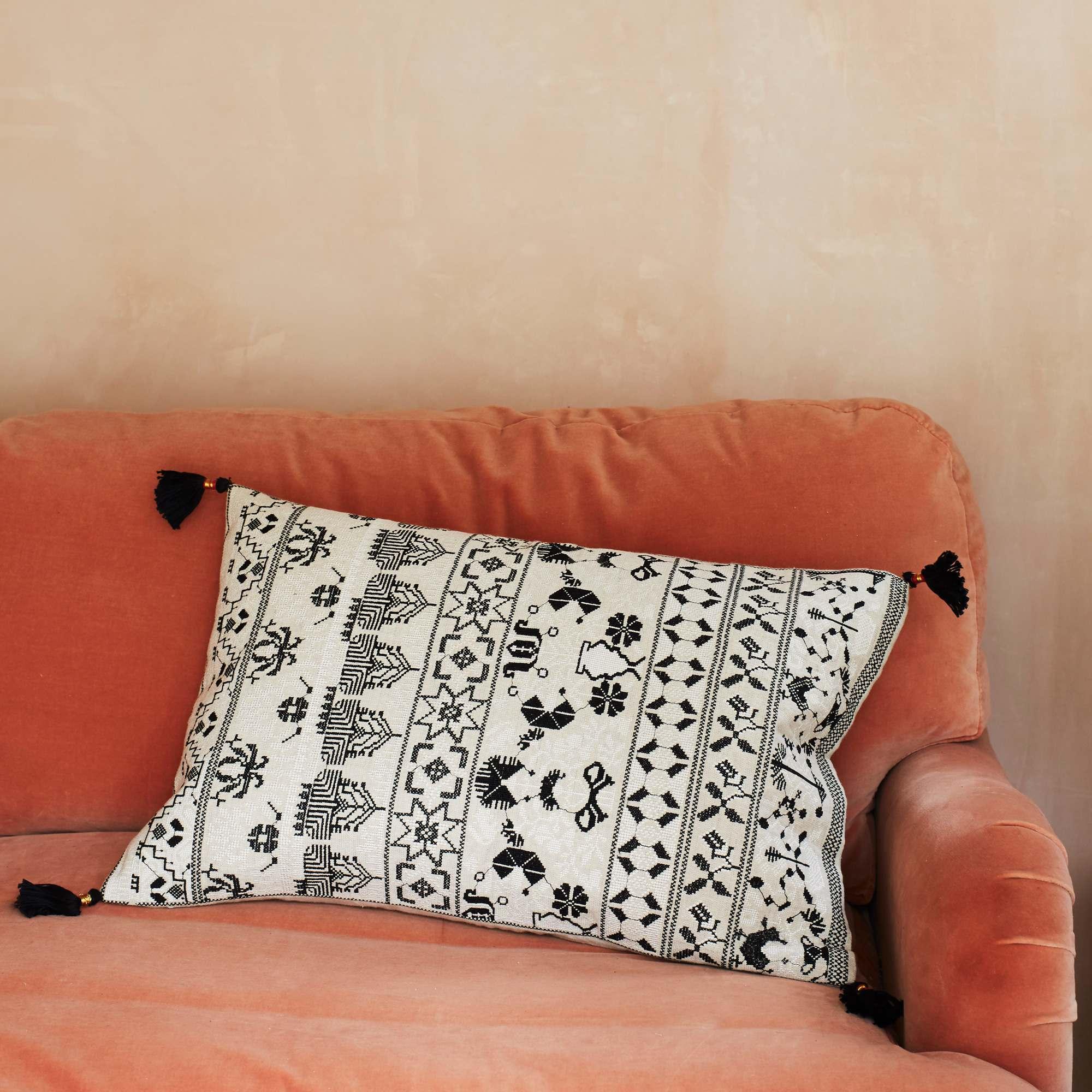 Anya Monochrome Sujani Cushion