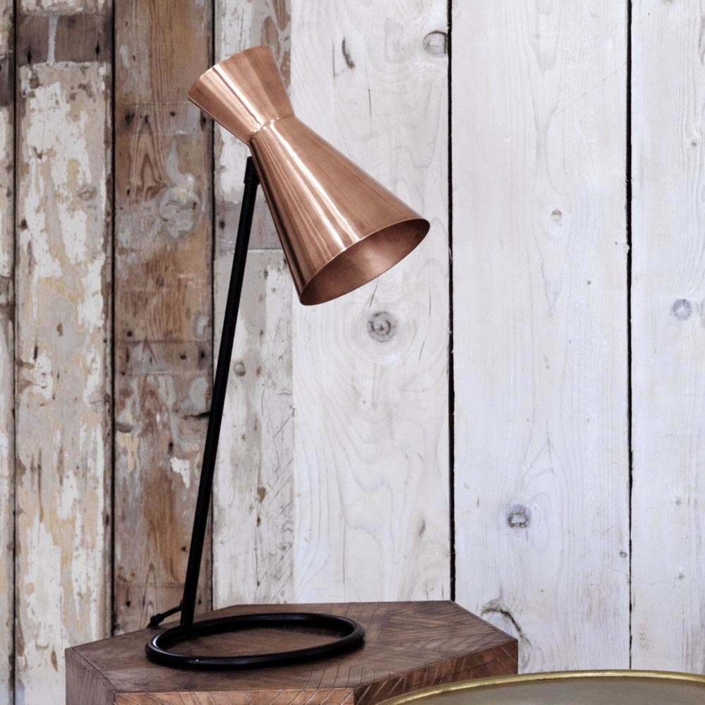 Angle Copper Desk Lamp