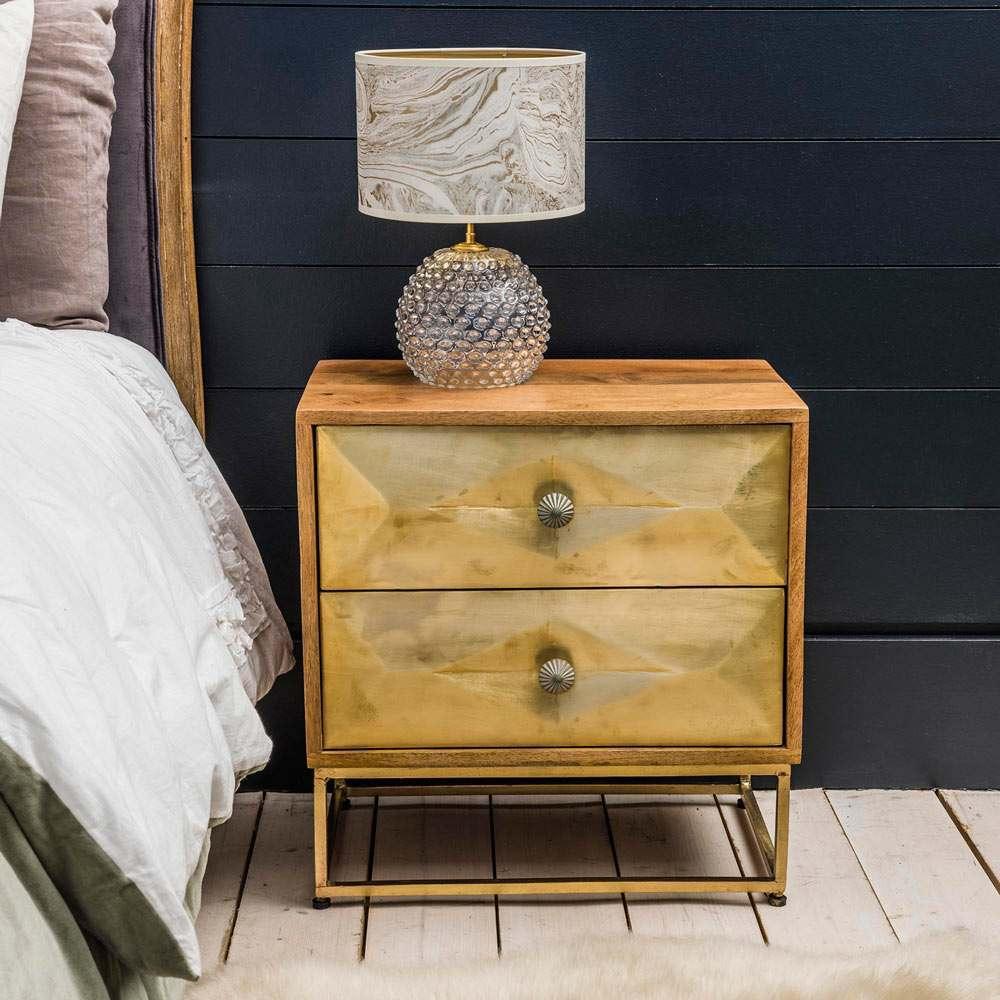 Umberto Brass Bedside Table