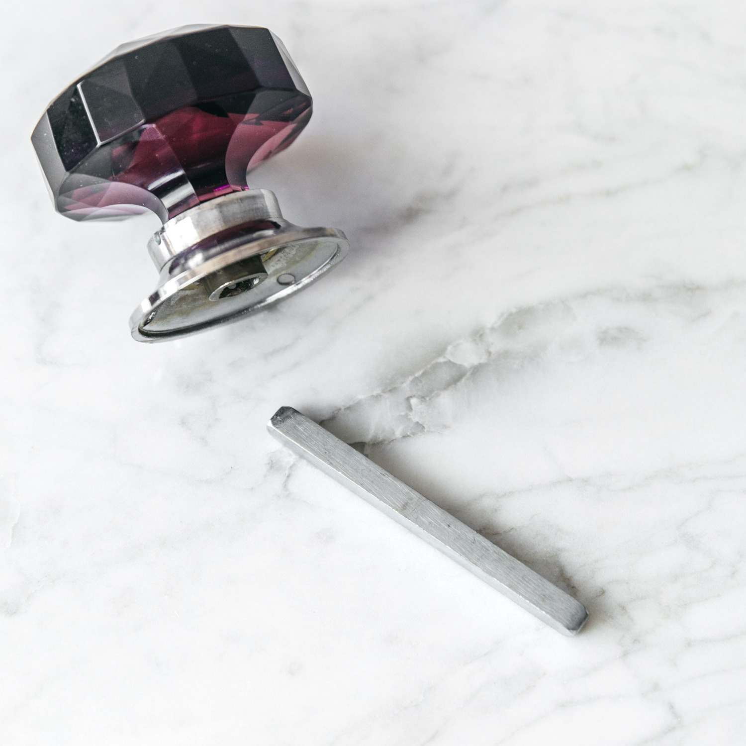 Silver Spindle for Door Knobs