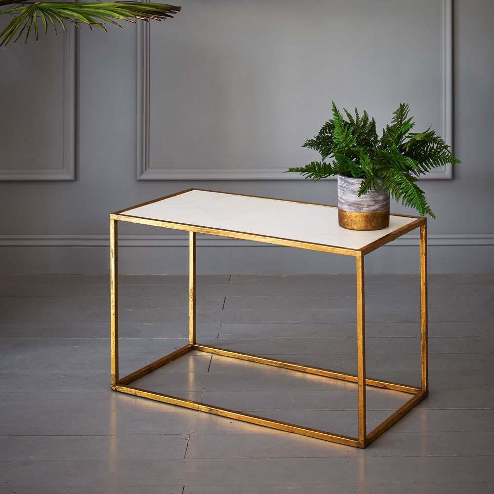 Odell Gold And Marble Coffee Table