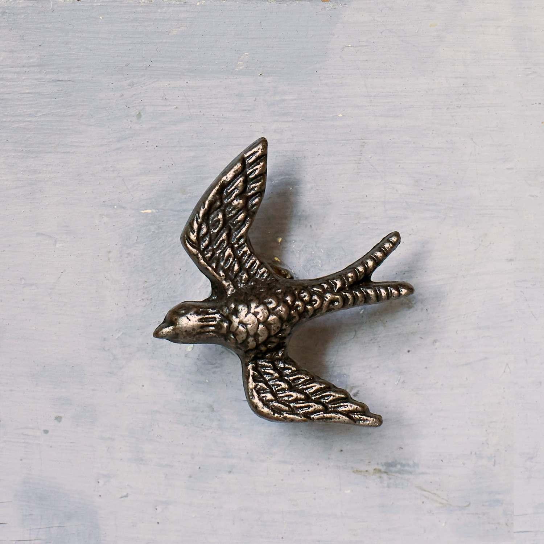 Antique Gold Swallow Metal Drawer Knob
