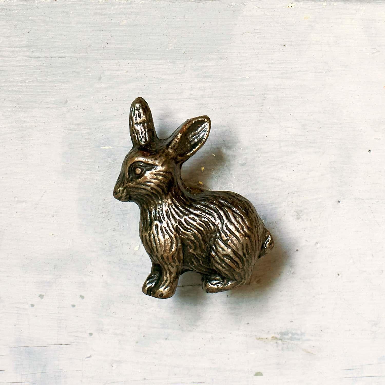 Antique Gold Rabbit Metal Drawer Knob