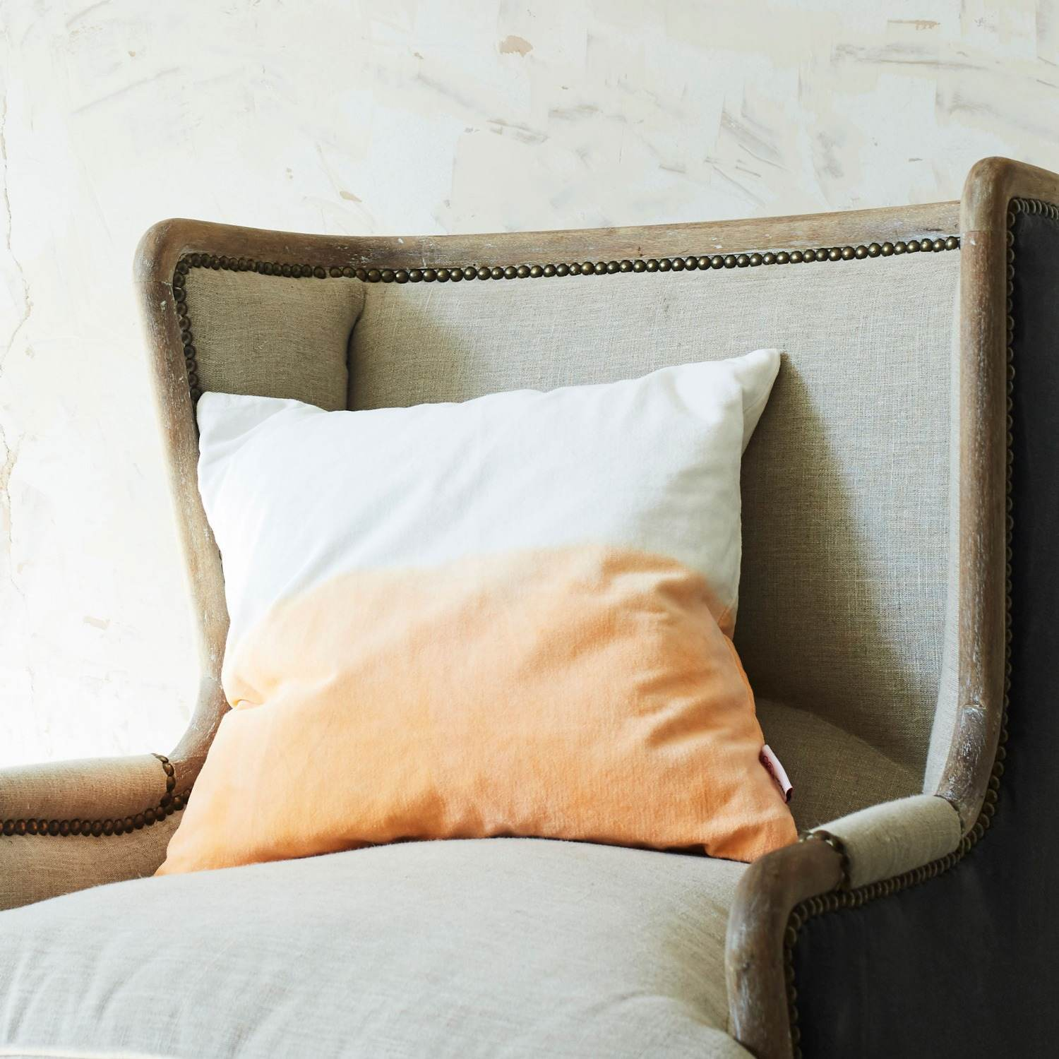 Amalfi Peach Square Cushion