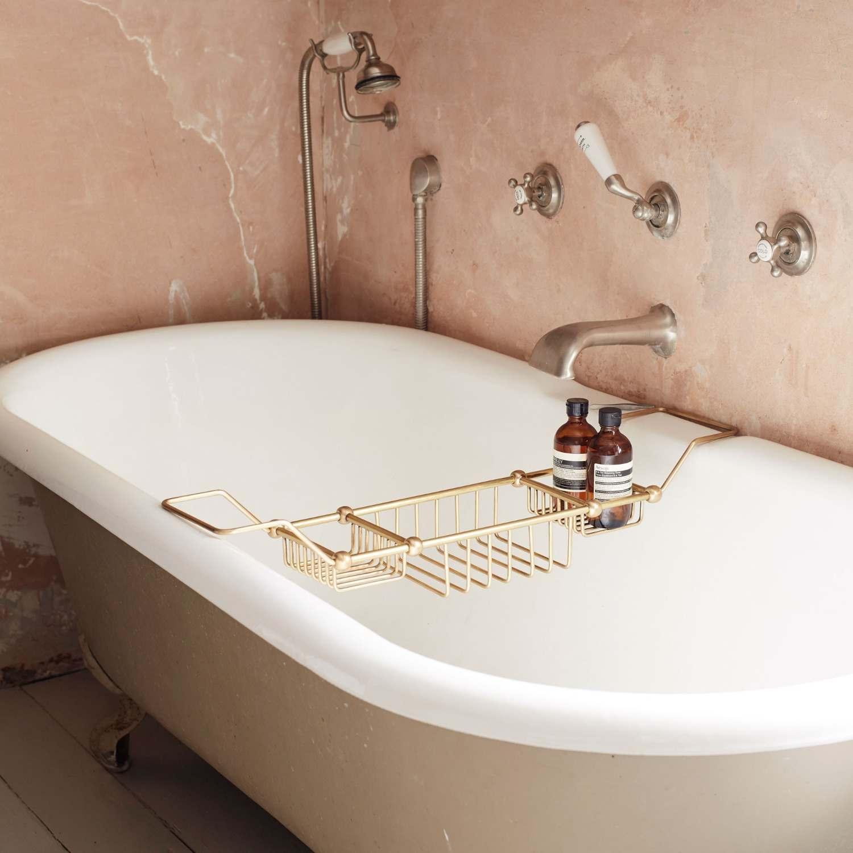 Antique Gold Bath Caddy