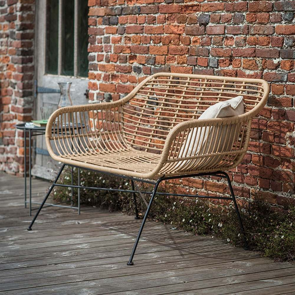An image of Hampstead Rattan Bench